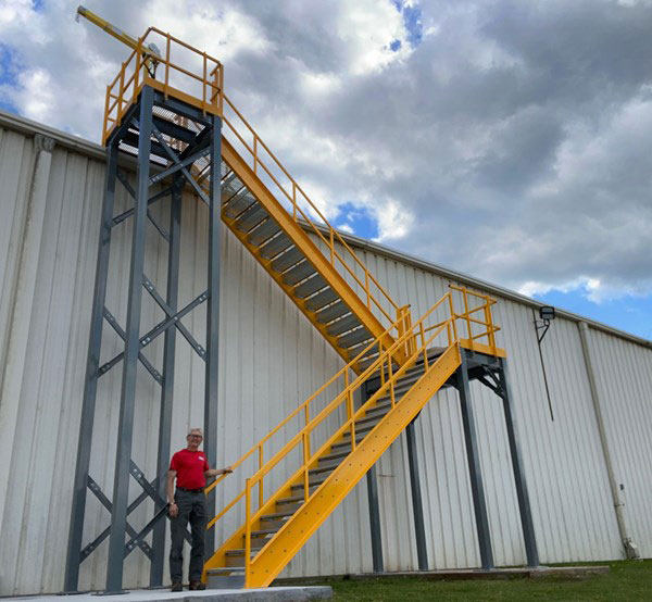Metal Access Stair System