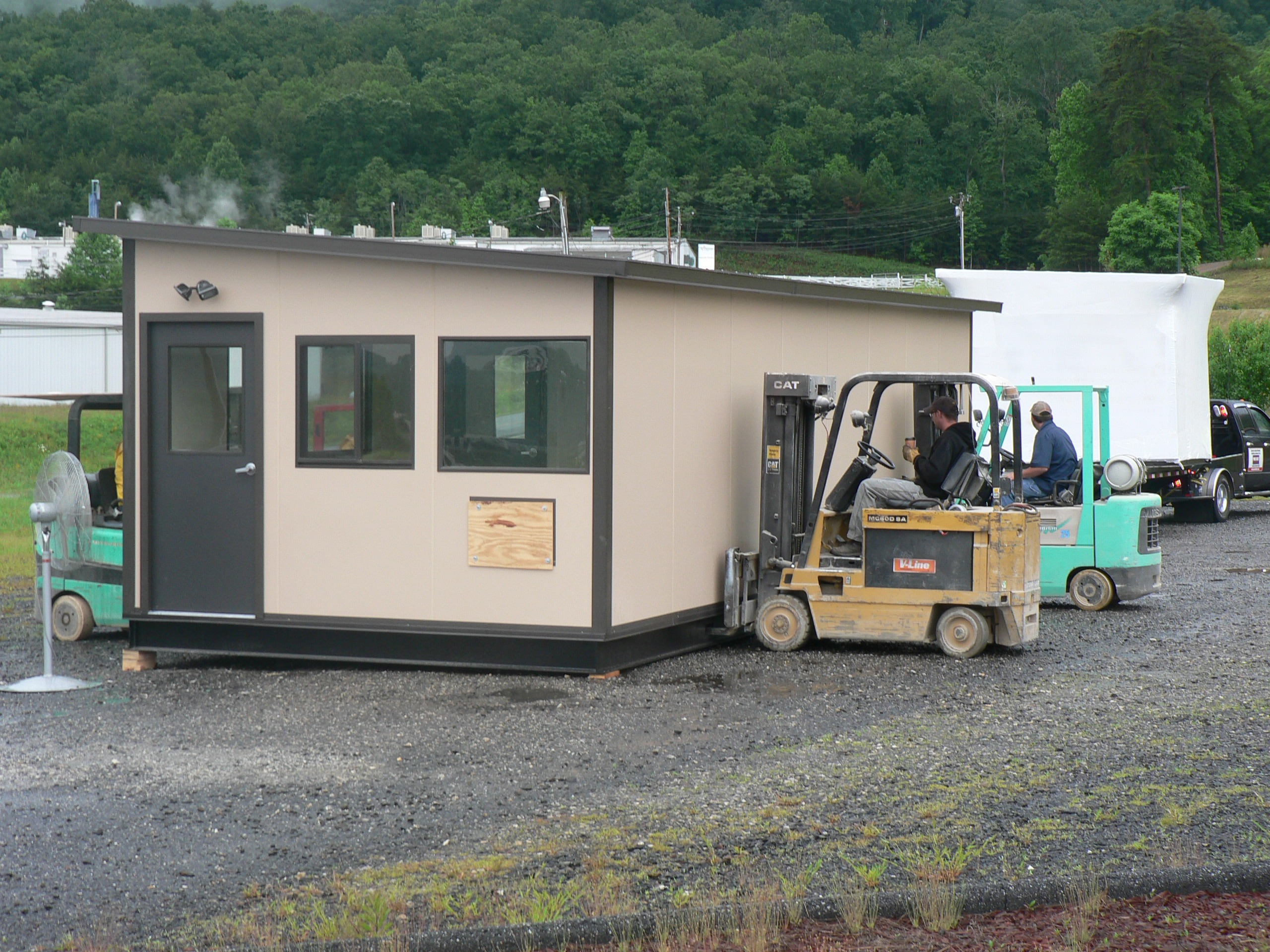 on-site portable office provides