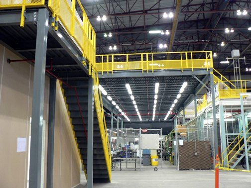 Structural Steel Mezzanines And Work Platforms Panel Built