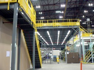 Prefabricated mezzanines