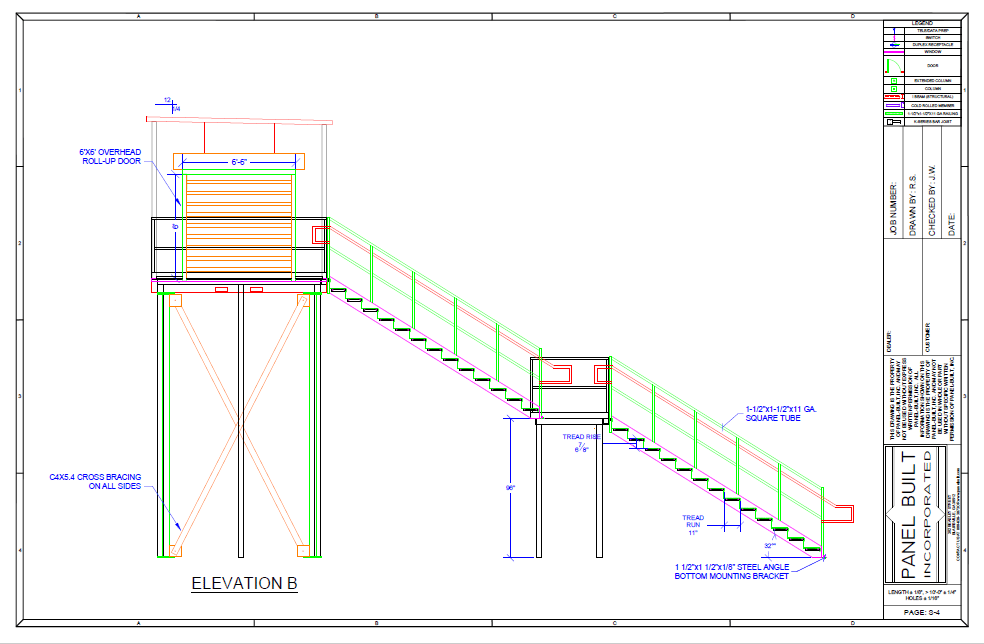 Tower Stair Case CAD