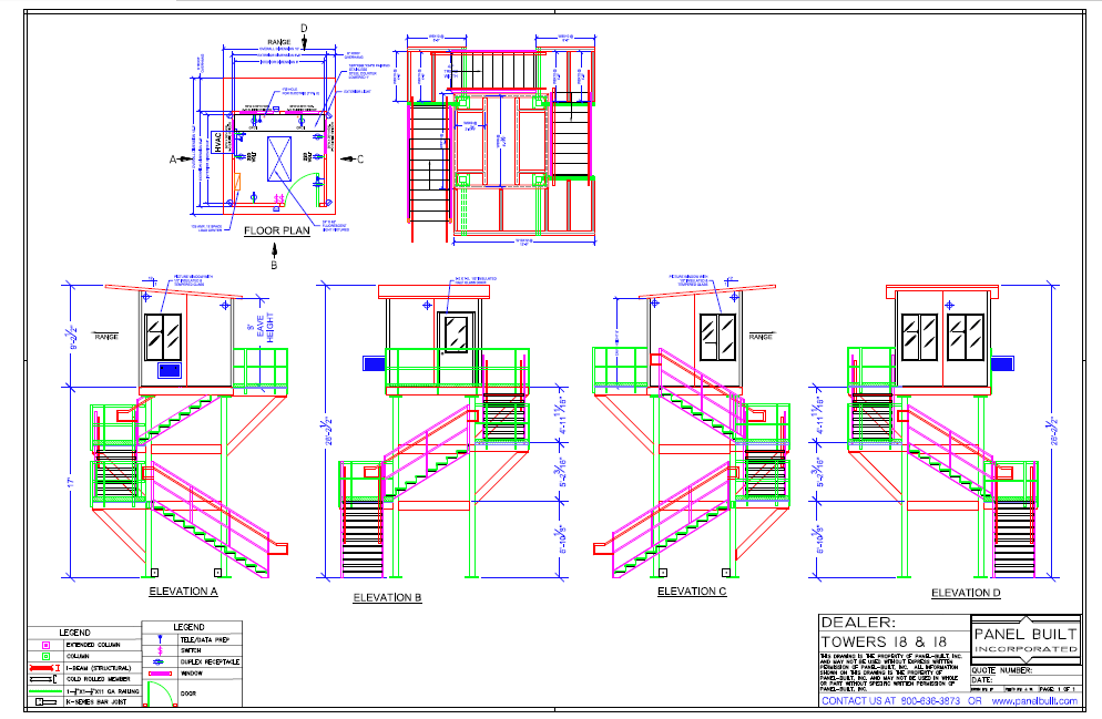 Fire Tower CAD