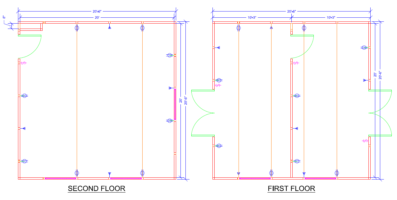 Top and Bottom Floor CAD