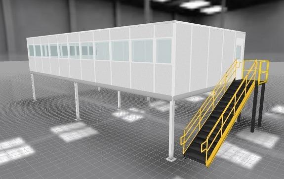 3D Modular Office Rendering