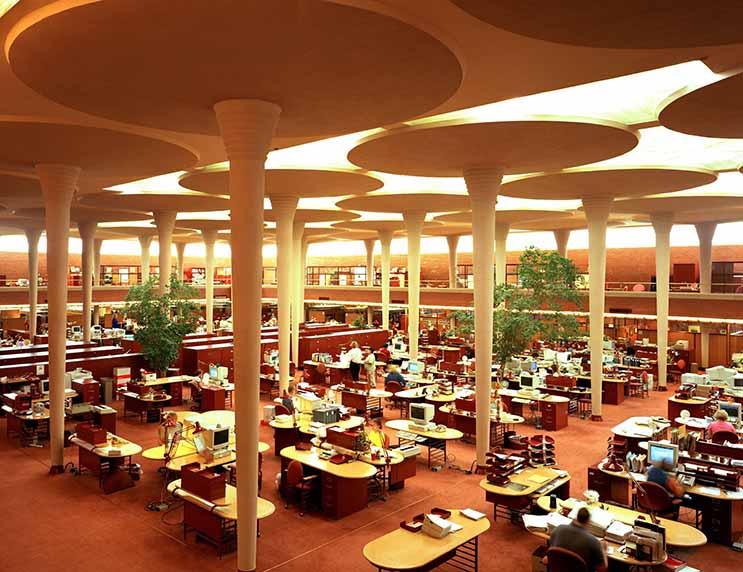 Frank Lloyd Wright Open Office