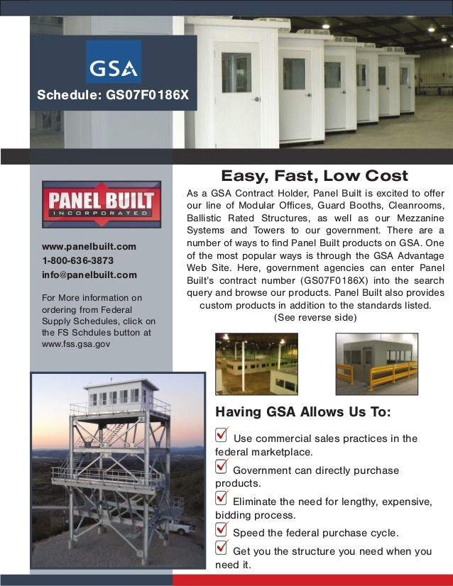 gsa info sheet