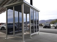 5x10 White Steel Shelter #10711