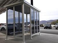 5x10 White Steel Shelter #10711