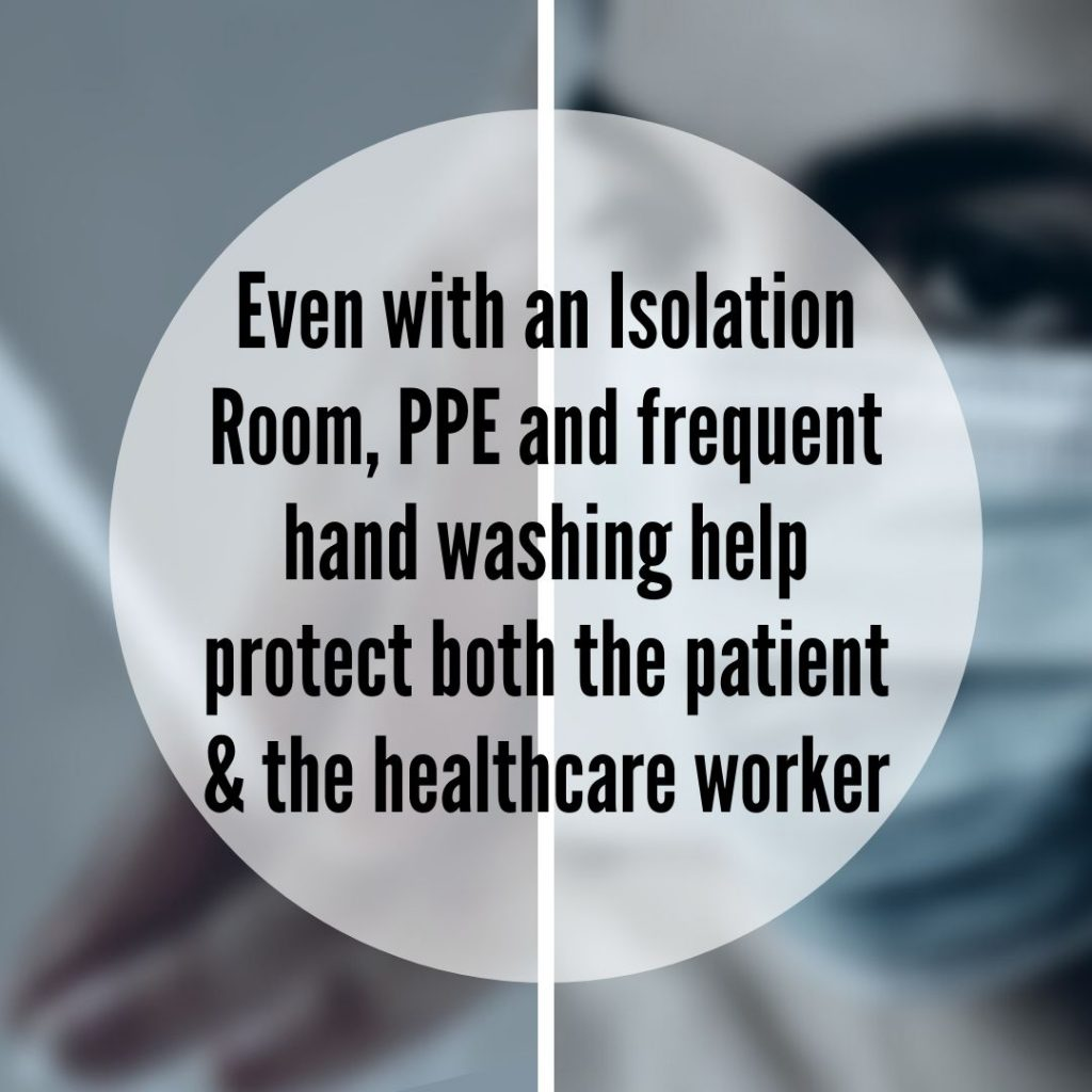 Isolation Room PPE Hand washing