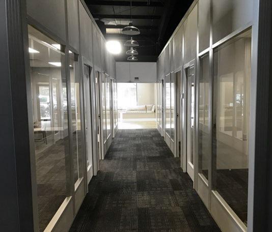 Modular Office Hallway