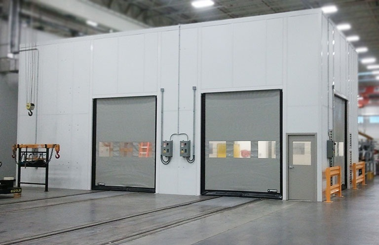 Modular office high speed roll up doors