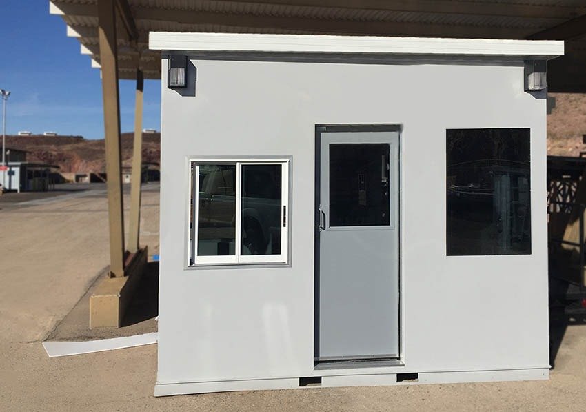 Prefabricated Ticket Booth in Gray