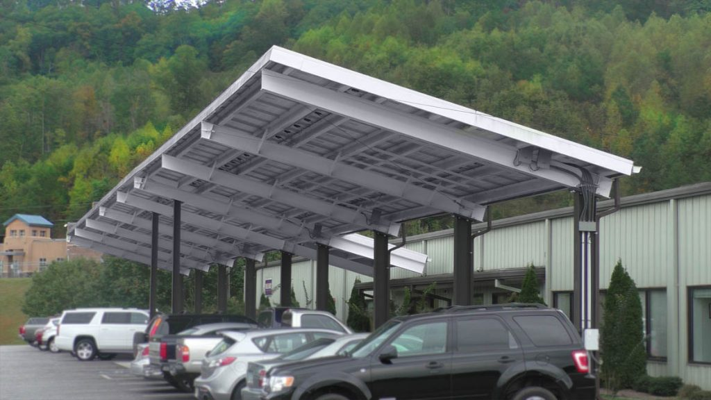 Standard Options & Steel Canopies | Solar Canopies for Sale | Panel Built