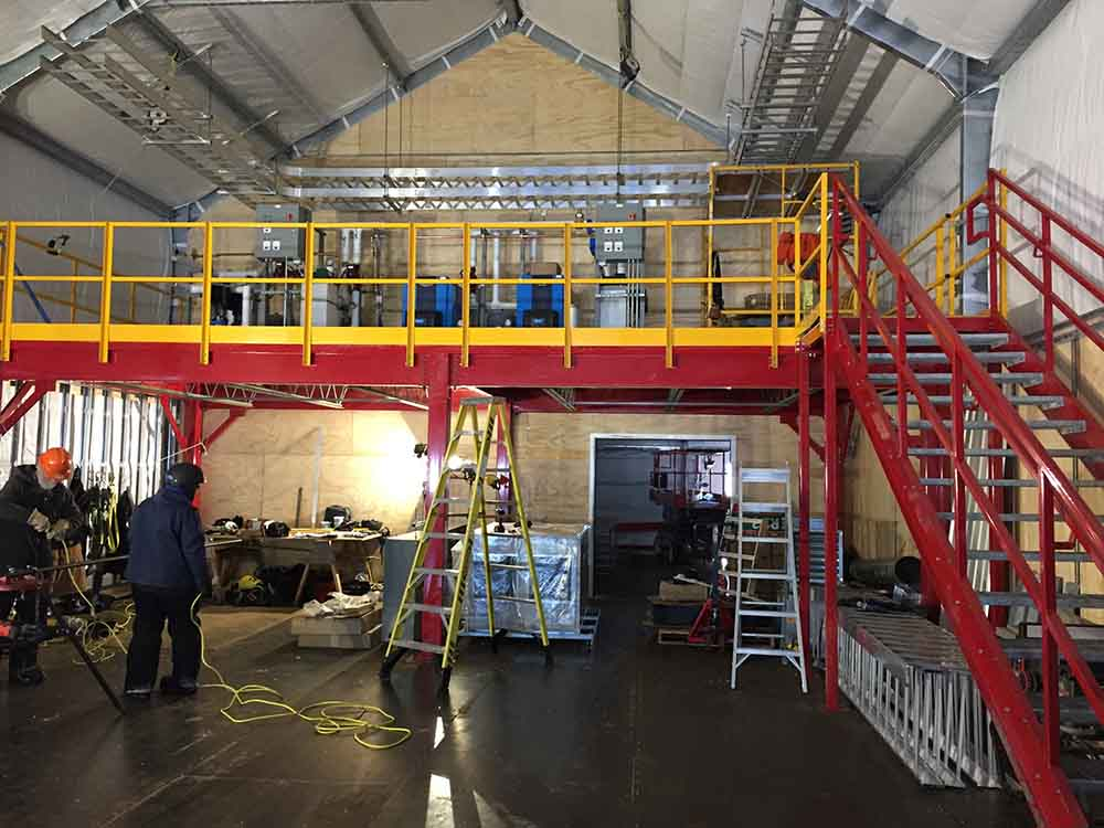 Steel Warehouse Mezzanine