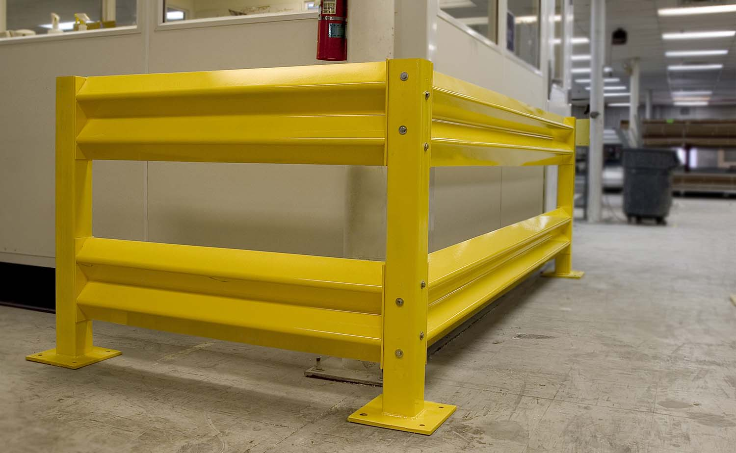 Warehouse Barrier Rail