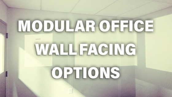 modular office wall facing options